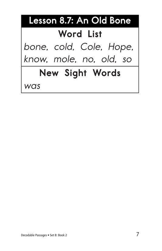 Book Preview For Decodable Passages Set 8 Book 2 Page 7