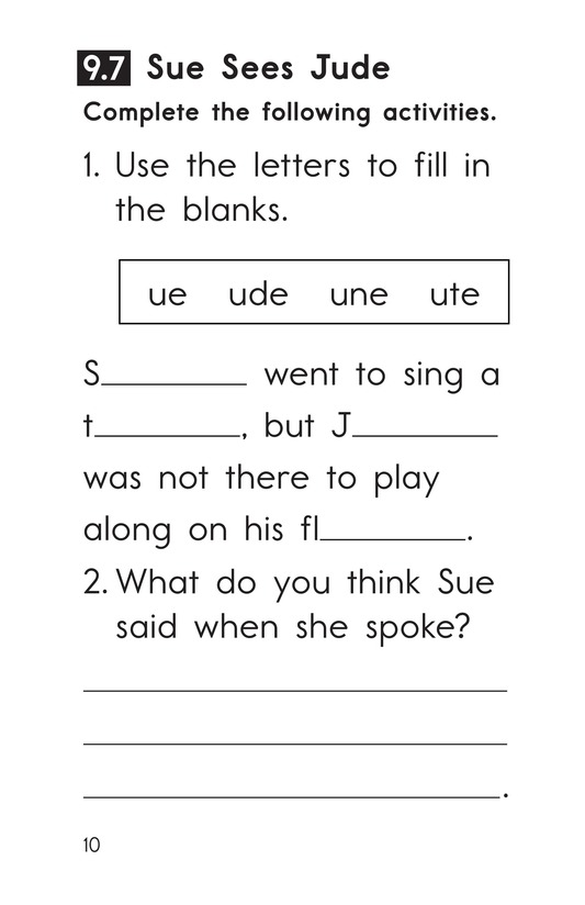 Book Preview For Decodable Passages Set 9 Book 2 Page 10