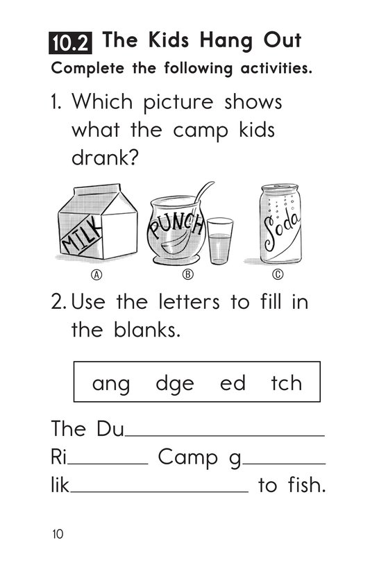 Book Preview For Decodable Passages Set 10 Book 1 Page 10
