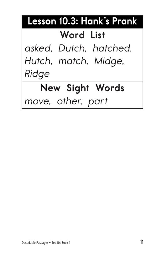 Book Preview For Decodable Passages Set 10 Book 1 Page 11