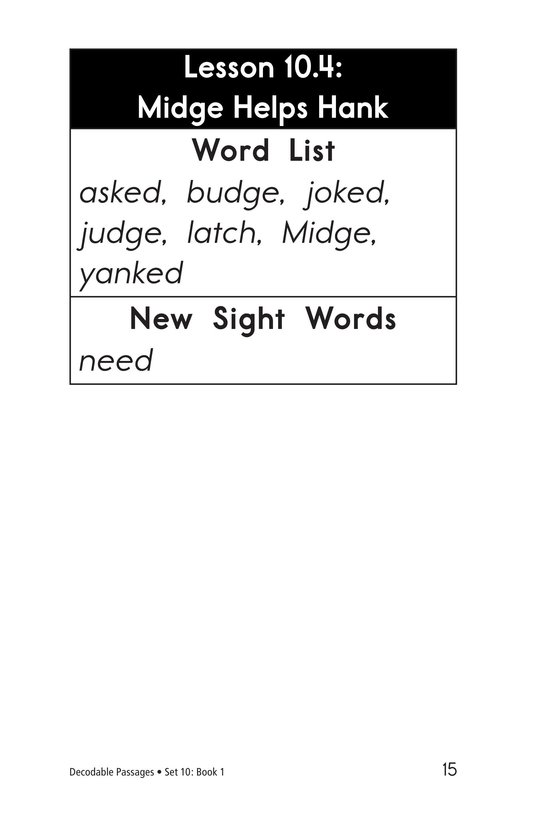 Book Preview For Decodable Passages Set 10 Book 1 Page 15