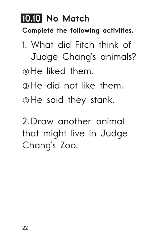 Book Preview For Decodable Passages Set 10 Book 2 Page 22