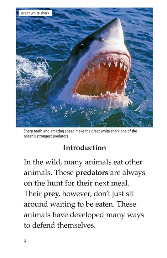 Book Preview For Animal Defenses Page 4