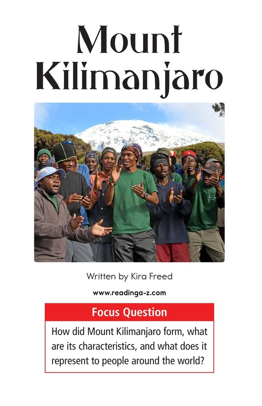 Book Preview For Mount Kilimanjaro Page 1