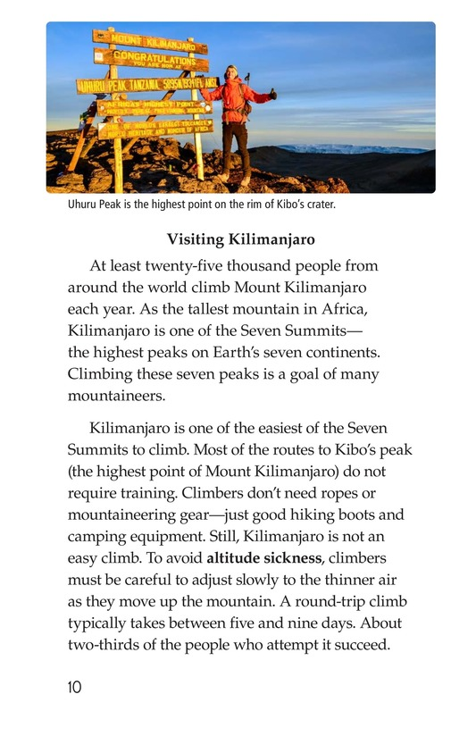 Book Preview For Mount Kilimanjaro Page 10