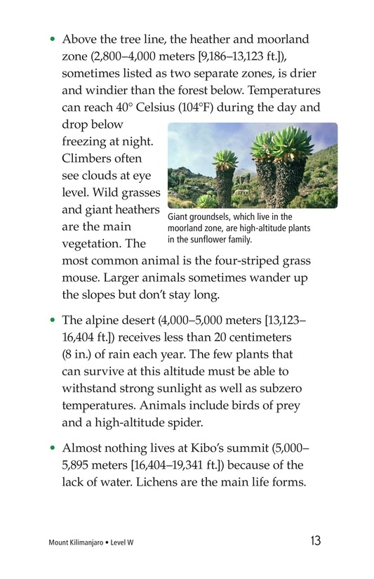 Book Preview For Mount Kilimanjaro Page 13