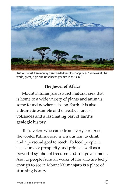 Book Preview For Mount Kilimanjaro Page 15