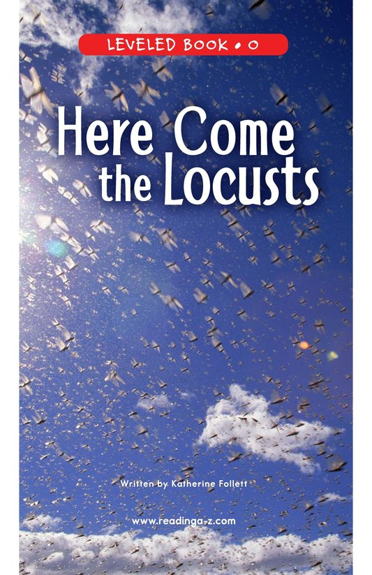 Book Preview For Here Come the Locusts Page 0