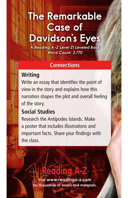 Book Preview For The Remarkable Case of Davidson's Eyes Page 25
