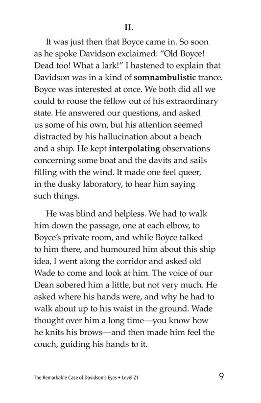 Book Preview For The Remarkable Case of Davidson's Eyes Page 9