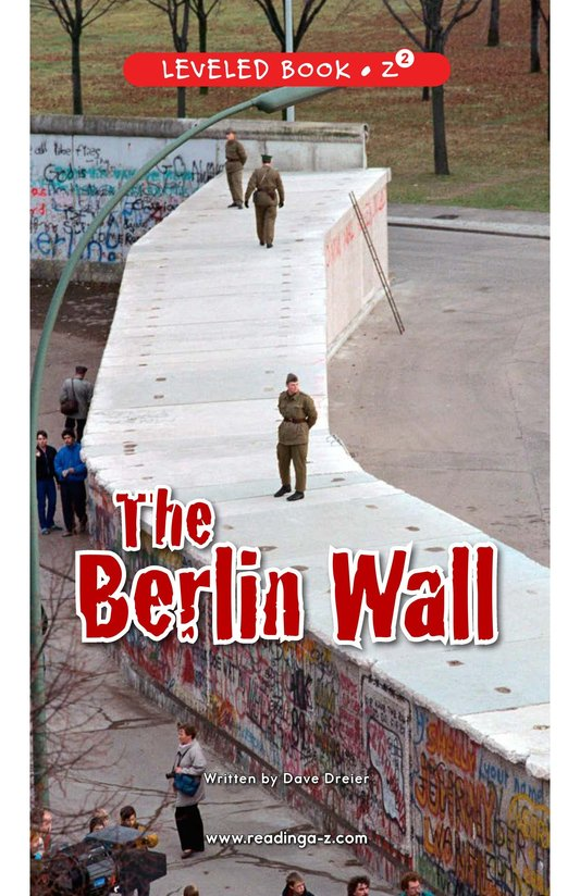 Book Preview For The Berlin Wall Page 0
