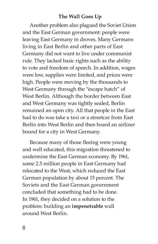 Book Preview For The Berlin Wall Page 8