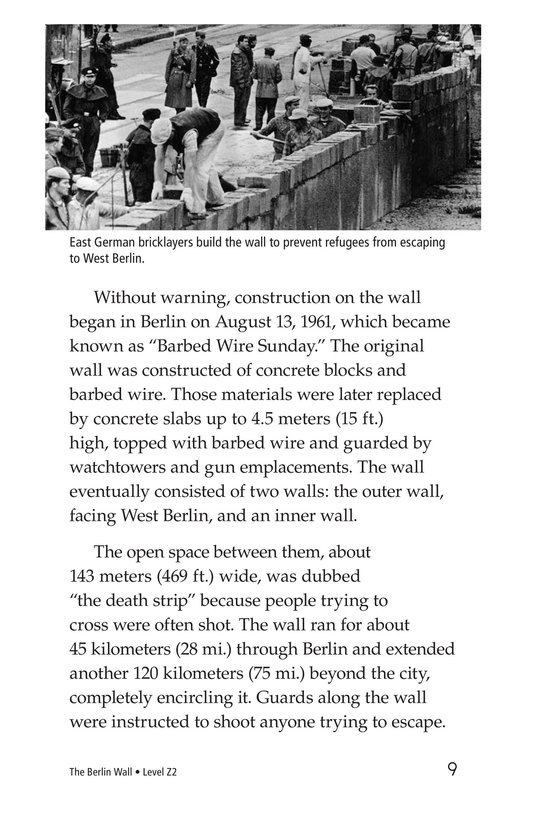 Book Preview For The Berlin Wall Page 9