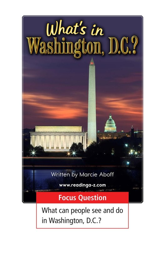 Book Preview For What's in Washington, D.C.? Page 1
