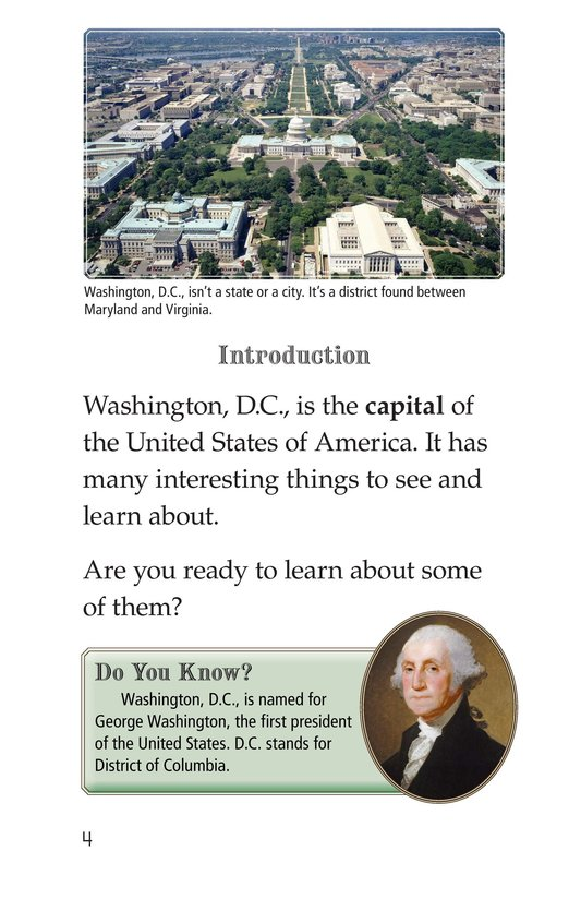 Book Preview For What's in Washington, D.C.? Page 4