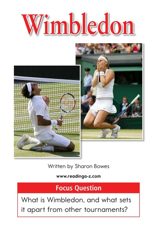 Book Preview For Wimbledon Page 1
