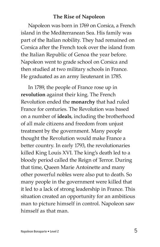 Book Preview For Napoleon Bonaparte Page 5