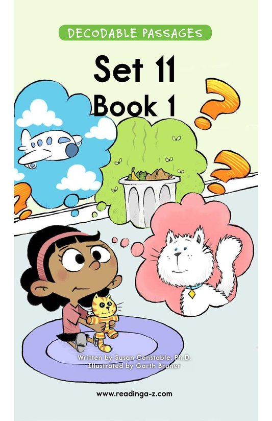 Book Preview For Decodable Passages Set 11 Book 1 Page 1