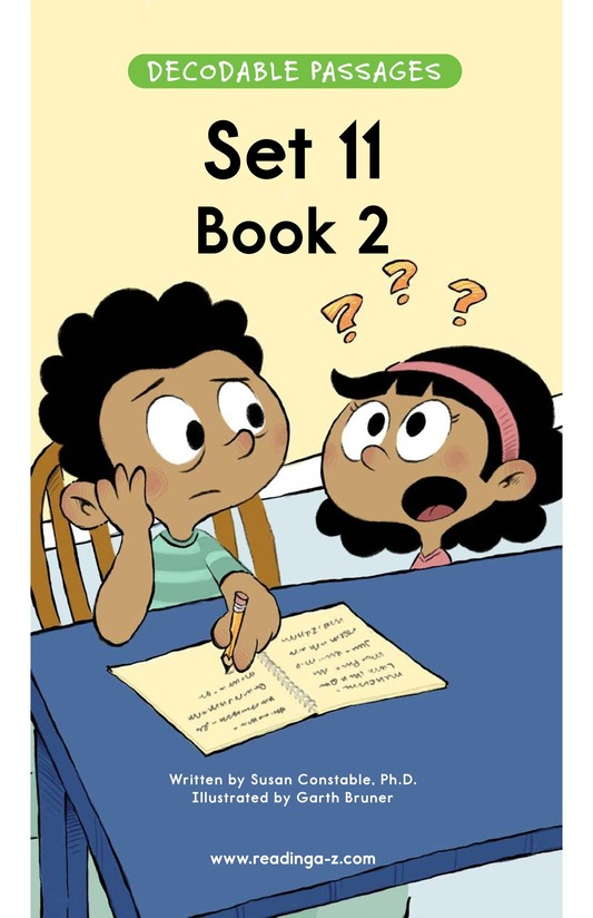 Book Preview For Decodable Passages Set 11 Book 2 Page 1