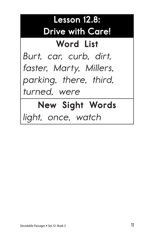 Book Preview For Decodable Passages Set 12 Book 2 Page 11