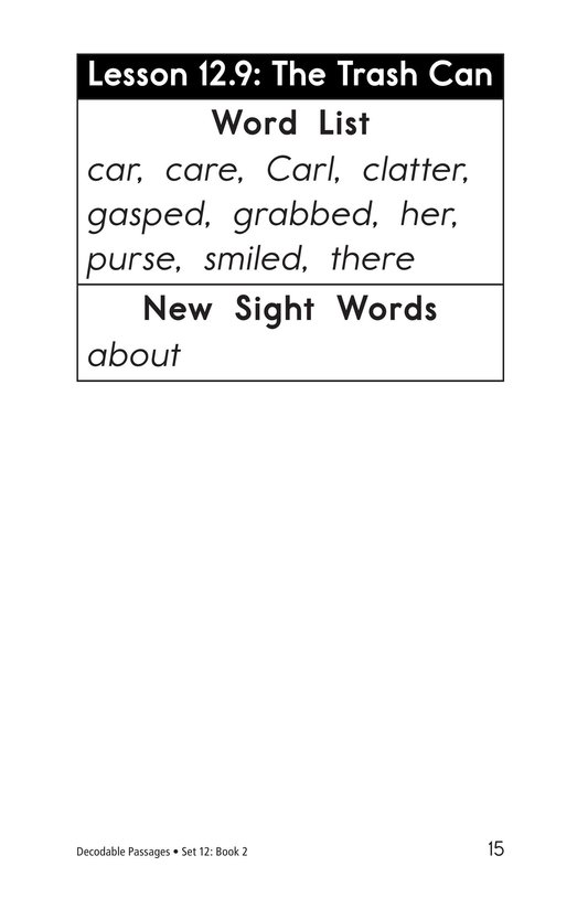 Book Preview For Decodable Passages Set 12 Book 2 Page 15