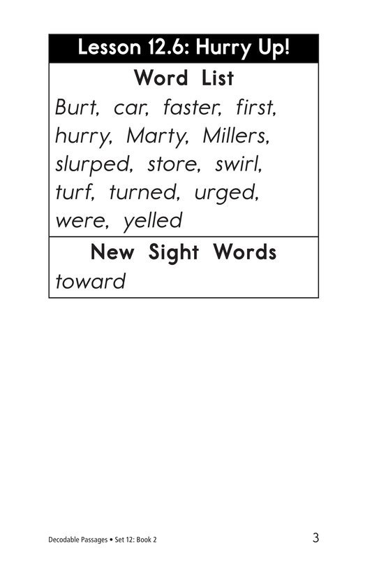 Book Preview For Decodable Passages Set 12 Book 2 Page 3