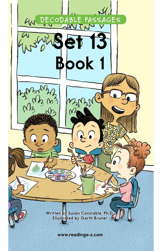 Book Preview For Decodable Passages Set 13 Book 1 Page 1