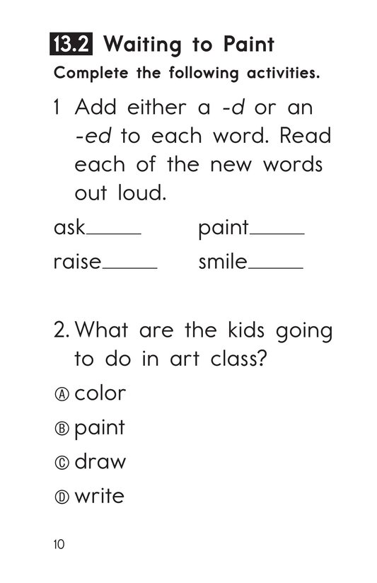 Book Preview For Decodable Passages Set 13 Book 1 Page 10