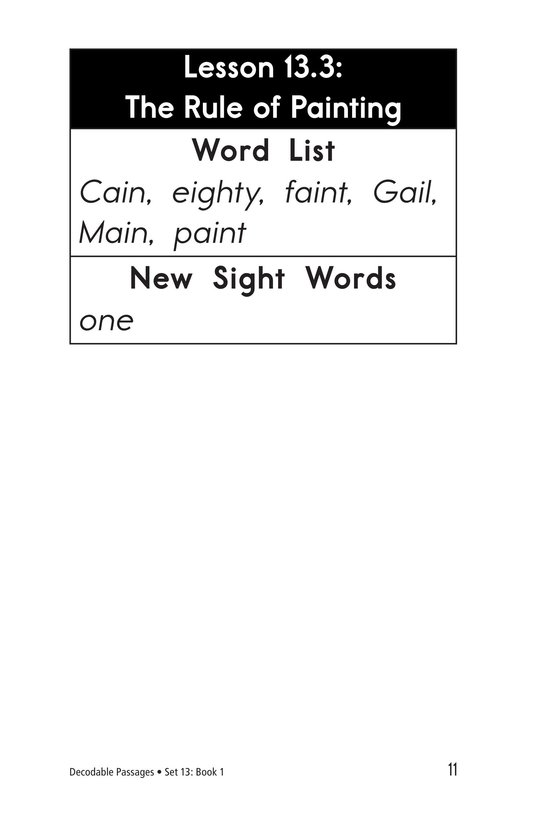 Book Preview For Decodable Passages Set 13 Book 1 Page 11