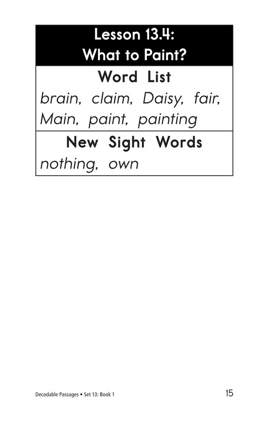 Book Preview For Decodable Passages Set 13 Book 1 Page 15