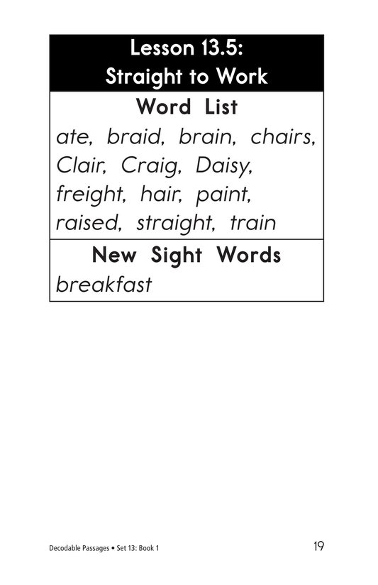Book Preview For Decodable Passages Set 13 Book 1 Page 19