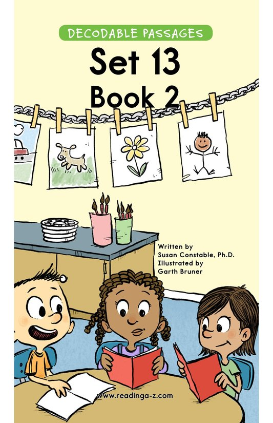 Book Preview For Decodable Passages Set 13 Book 2 Page 1
