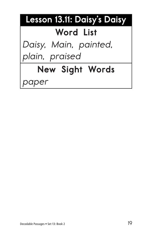 Book Preview For Decodable Passages Set 13 Book 2 Page 19