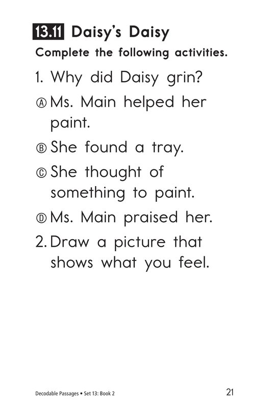 Book Preview For Decodable Passages Set 13 Book 2 Page 21