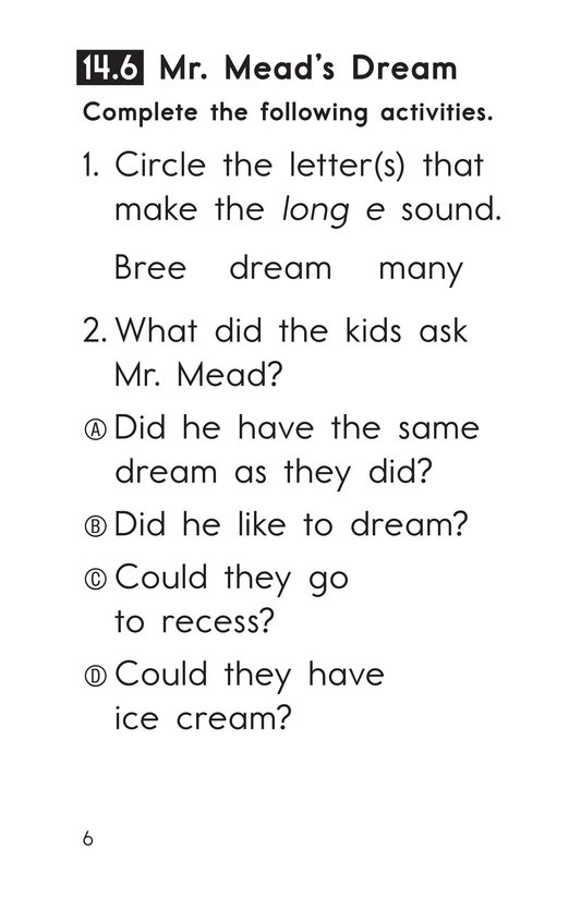 Book Preview For Decodable Passages Set 14 Book 2 Page 6