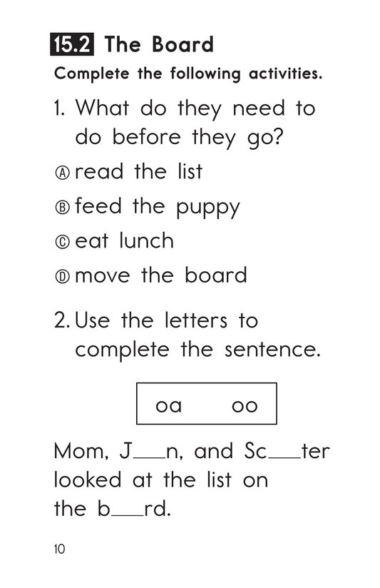 Book Preview For Decodable Passages Set 15 Book 1 Page 10