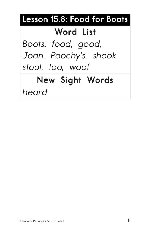 Book Preview For Decodable Passages Set 15 Book 2 Page 11