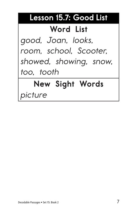 Book Preview For Decodable Passages Set 15 Book 2 Page 7
