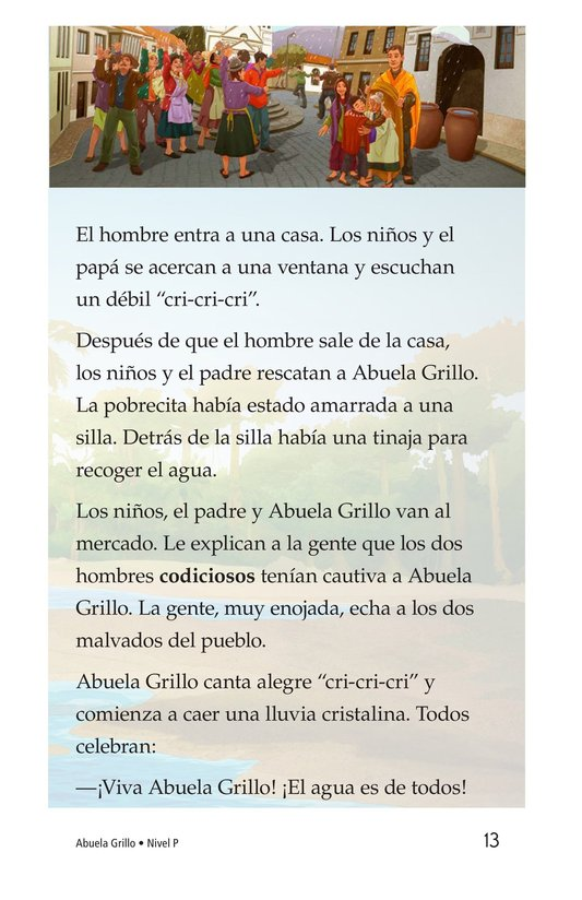 Book Preview For Abuela grillo Page 13
