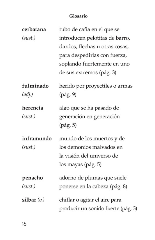 Book Preview For Los héroes gemelos Page 16