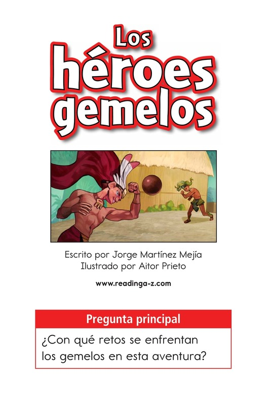 Book Preview For Los héroes gemelos Page 1