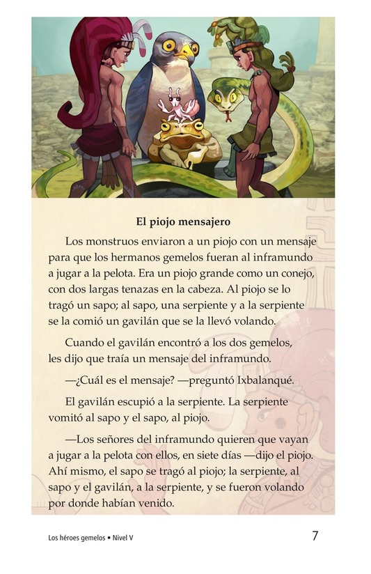 Book Preview For Los héroes gemelos Page 7