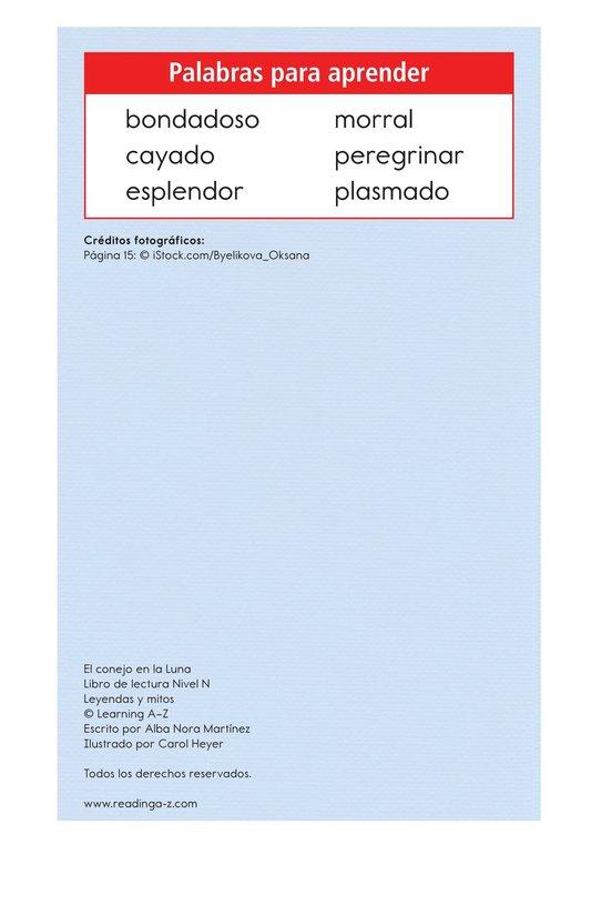 Book Preview For El conejo en la luna Page 2