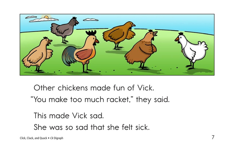 Book Preview For Click, Cluck, and Quack Page 7