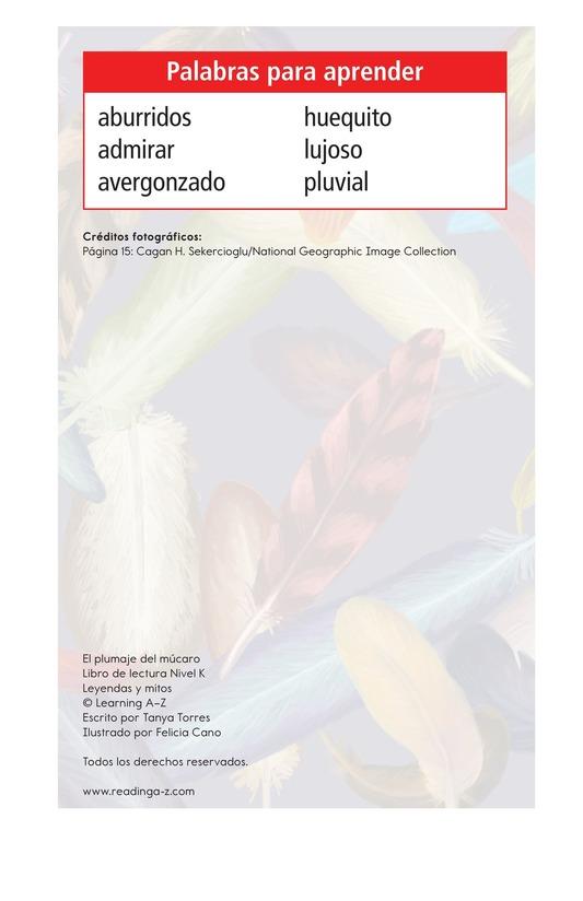 Book Preview For El plumaje del múcaro Page 2