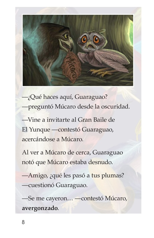 Book Preview For El plumaje del múcaro Page 8
