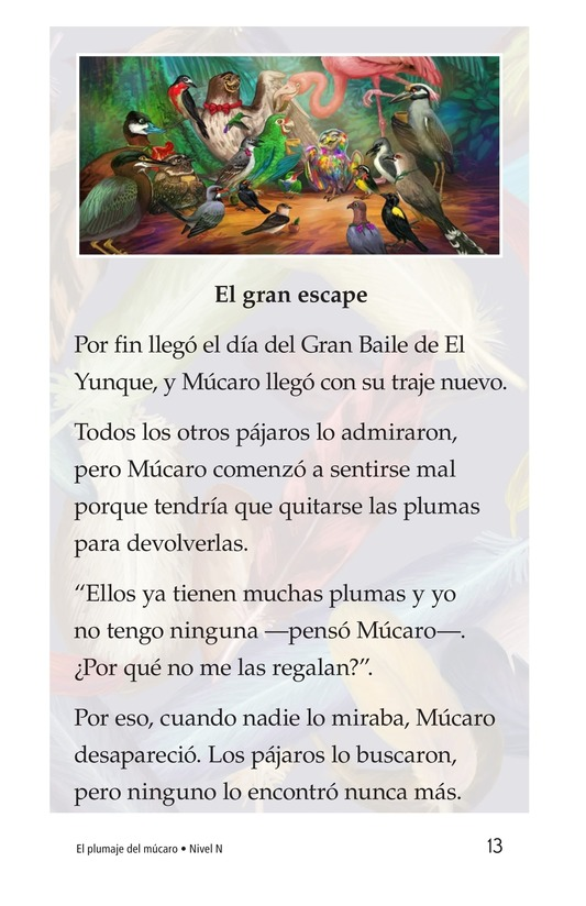 Book Preview For El plumaje del múcaro Page 13