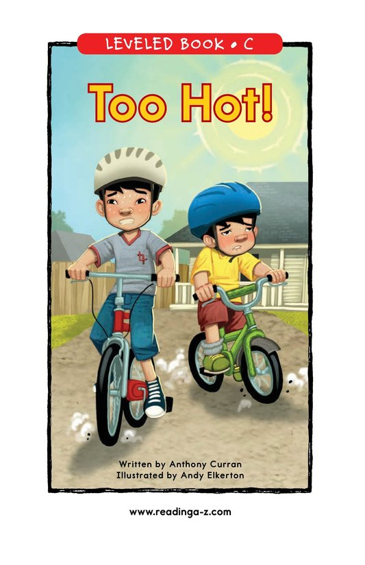 Book Preview For Too Hot! Page 0