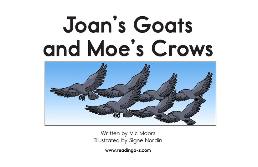 Book Preview For Joan's Goats and Moe's Crows Page 2