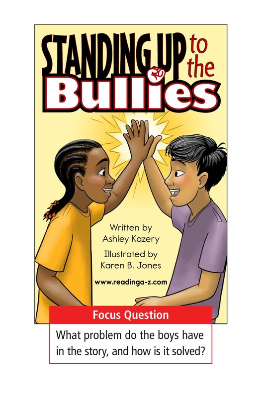 Book Preview For Standing Up to the Bullies Page 1